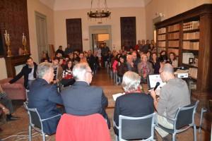 serata presentazione libro a Palazzo Comi (Lucugnano)