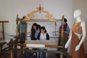 Sala tessitura allestita a Palazzo Ramirez (Salve)