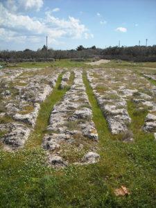 carraie nei pressi dell'insediamento di Macurano