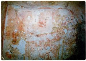 Ambiente interno della Cripta di Santa Marina. Dormitio Virginis (foto: Luigi Marra).