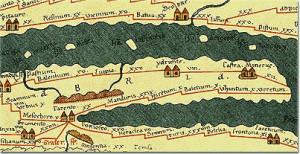 Tabula Peutingeriana, VII Pergamena con la rappresentazione della penisola salentina.