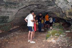visita guidata in grotta Montani (agosto 2015)