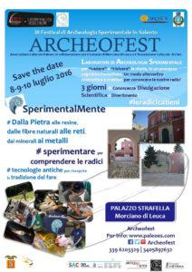 Locandina archeofest 2016