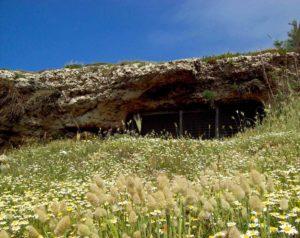 Apertura della Grotta Porcinara (Punta Ristola presso Santa Maria di Leuca). Foto M. Cavalera.