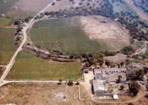 veduta aerea dell'insediamento de La Chiusa (Descoeudres, Robinson 1993, p. 78)